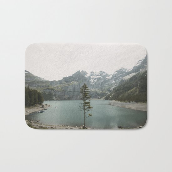 Lone Switzerland Tree - Landscape Photography Bath Mat