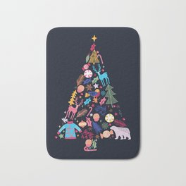 Magic of a christmas tree Bath Mat