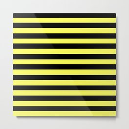 Stripes (Black & Yellow Pattern) Metal Print