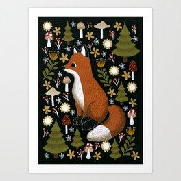 hello fox Art Print