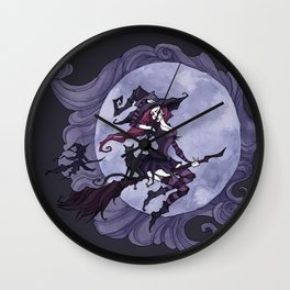 Flying Witches Wall Clock