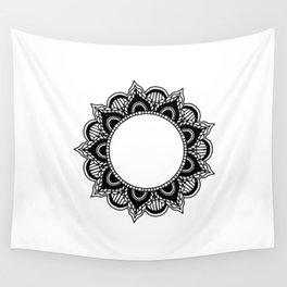 Mandala: black and white Wall Tapestry
