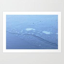 Frozen Chickadee Lake 4 Art Print