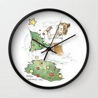 jedi Wall Clocks featuring Jolly Jedi by Khaedin