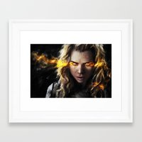 bad wolf Framed Art Prints featuring Bad Wolf by Westling