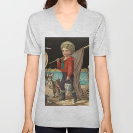 The pride of the harbor, 1874 Unisex V-Neck