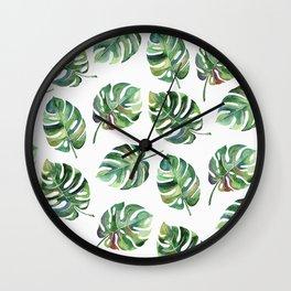 Leaves Everywhere Wall Clock