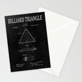Billiard Triangle Patent 2 Stationery Cards