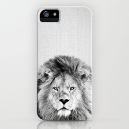 Lion 2 - Black & White iPhone Case