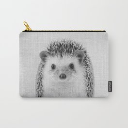 Hedgehog - Black & White Carry-All Pouch