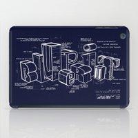 blueprint iPad Cases featuring Blueprint by Matthew McKenna