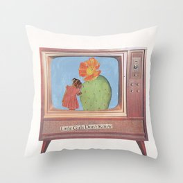 Little Girls Don't Know Throw Pillow