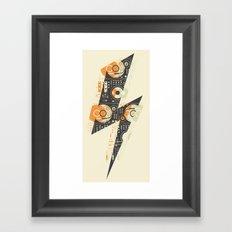 Dj's Lightning Framed Art Print