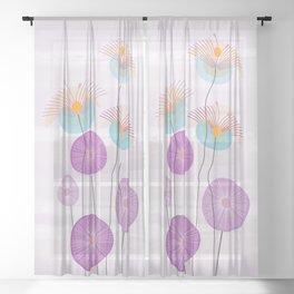 Weird Blooms Sheer Curtain