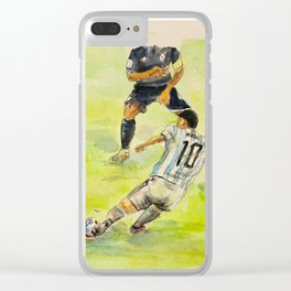 Lionel Messi_ Argentine professional footballer Clear iPhone Case