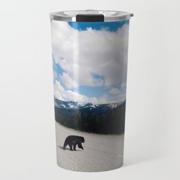 Black Bear Crossing Travel Mug