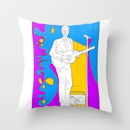 David Byrne in Stop Making Sense by Aaron Bir Throw Pillow