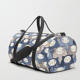 Find a cat in a parliament of owls (Art Deco Kawaii) Duffle Bag