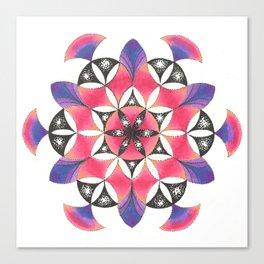 Pink Flower of Life Mandala Canvas Print