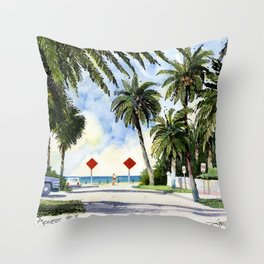 Beach Access 3, Siesta Key Throw Pillow