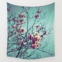 vintage flowers Wall Tapestries featuring Vintage Flowers by ALP-Fotografie