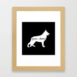 German Shepherd Framed Art Print