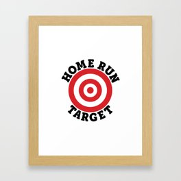 Home Run Target Framed Art Print