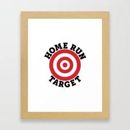 Home Run Target Framed Art Print