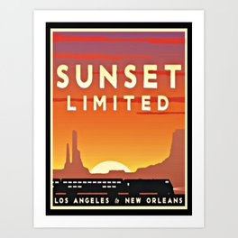 Vintage poster - Sunset Limited Art Print