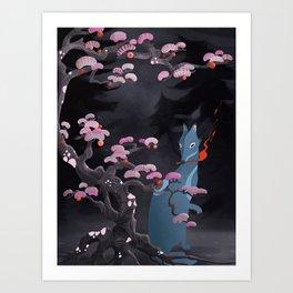 Hokkaido Wolf Art Print