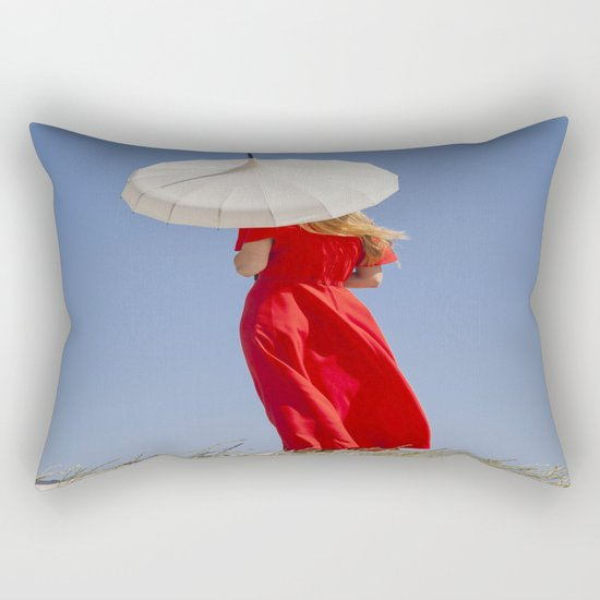 Lady in Red II Rectangular Pillow