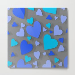 Decorative paper heart 5 Metal Print