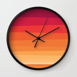 Honolulu Sunset Beach Color Wall Clock