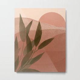 Terracotta Sunset Illustration  Metal Print