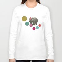 birthday Long Sleeve T-shirts featuring Birthday Bear by Cassia Beck