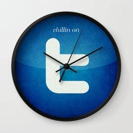Chillin on Twitter Wall Clock