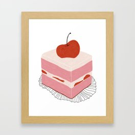 Cherry Cake Framed Art Print