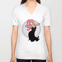 jem V-neck T-shirts featuring Jem - Music is Magic by CatAstrophe