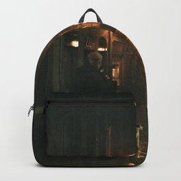 Old men with a dog - Bordeaux Backpack