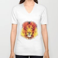 the lion king V-neck T-shirts featuring lion king by Ancello