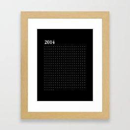 2014 WHITE DOTS Framed Art Print