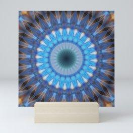 Mandala blue power Mini Art Print