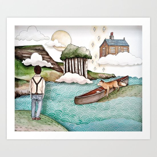 The Day We Saw the Sun Come Up Art Print