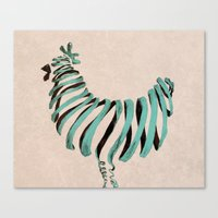 chicken Canvas Prints featuring Chicken by Claire.H