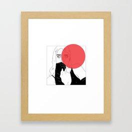 BANKS X RED Framed Art Print