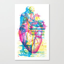 Andreae Vesalii Montage Canvas Print