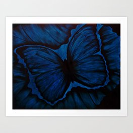 Butterfly in Blue Geode Art Print