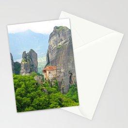 Christian Orthodox monastery of Meteora, Greece Stationery Cards