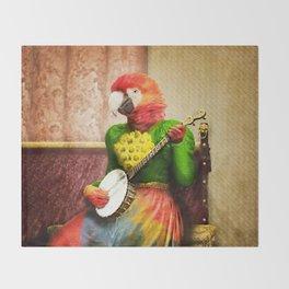 Banjo Birdy Plucks a Pretty Tune! Throw Blanket