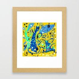 Photocatalysis and POW!(d)erPlants Framed Art Print